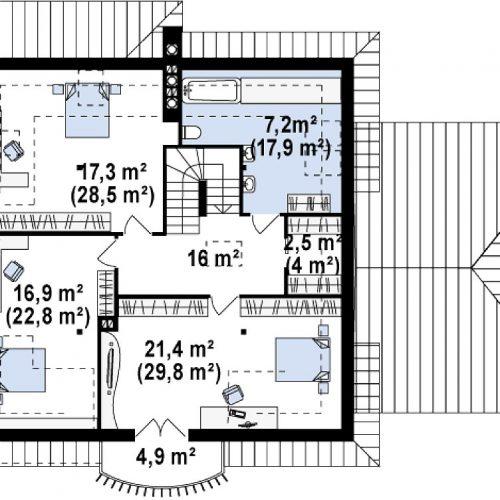 План второго этажа проекта Z109 GP2