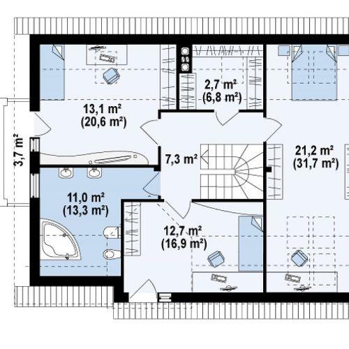 План второго этажа проекта Z110