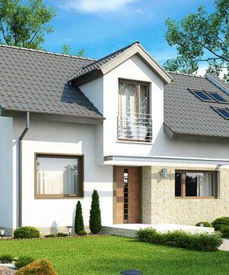 Фото проекта дома Z110 вид с улицы