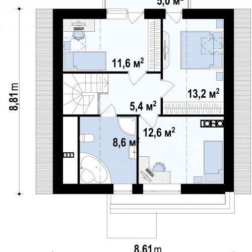 План второго этажа проекта Z112