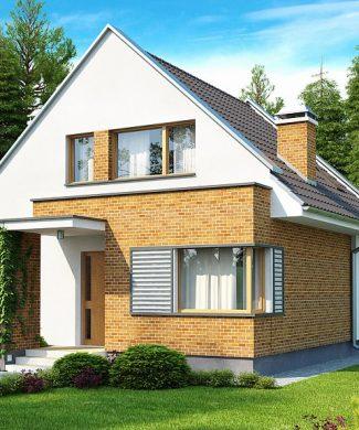 Фото проекта дома Z112 вид с улицы