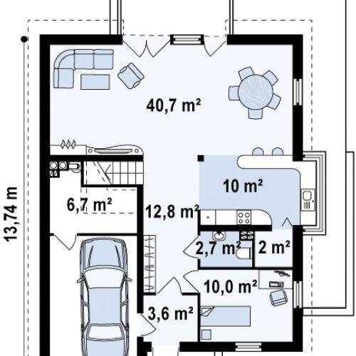 План первого этажа проекта Z116