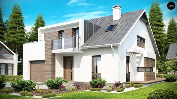 Фото проекта дома Z116 вид с улицы