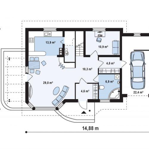 План первого этажа проекта Z117