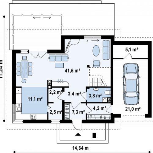 План первого этажа проекта Z118