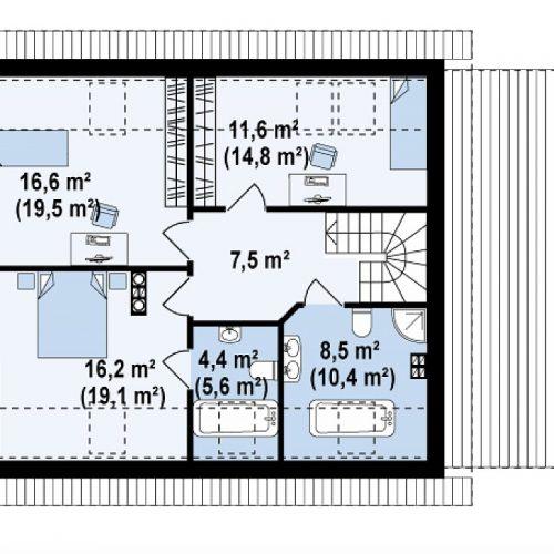 План второго этажа проекта Z118