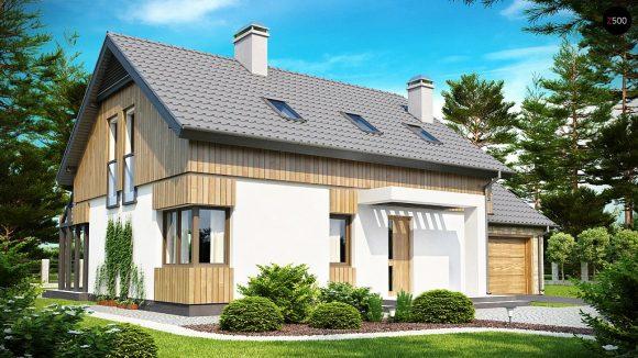 Фото проекта дома Z118 вид с улицы