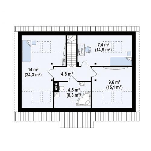 План второго этажа проекта Z12 P