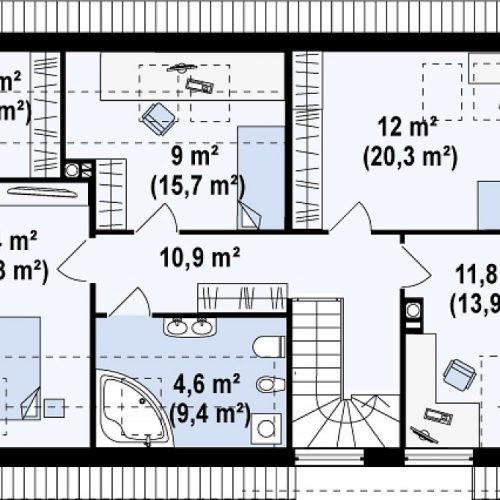 План второго этажа проекта Z122 v2