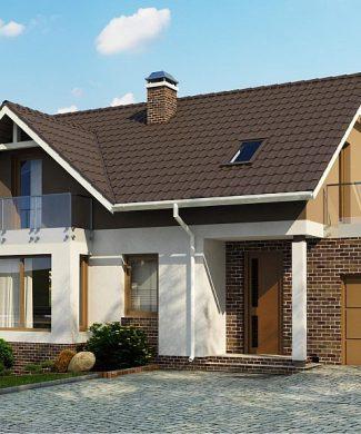 Фото проекта дома Z128 GP вид с улицы