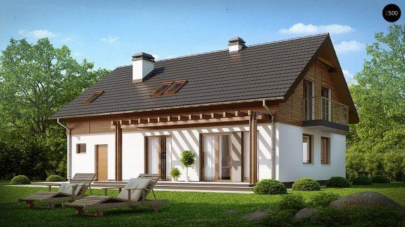 Фото проекта дома Z130 вид с улицы