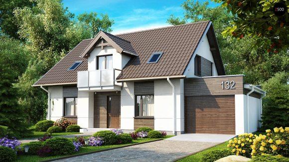 Фото проекта дома Z132 вид с улицы