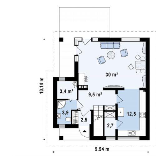 План первого этажа проекта Z134