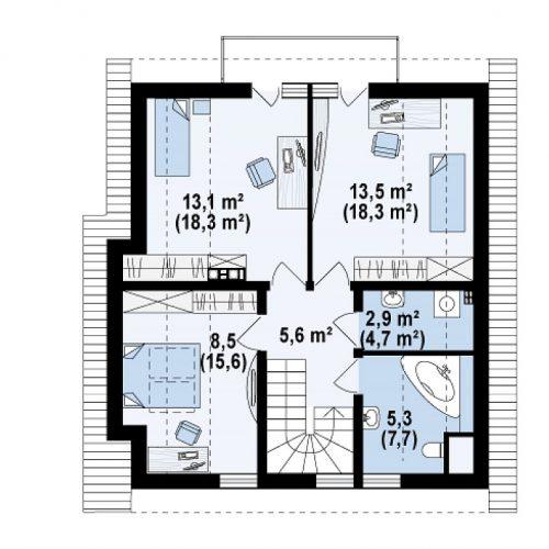 План второго этажа проекта Z134