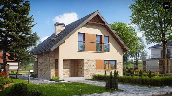 Фото проекта дома Z134 вид с улицы