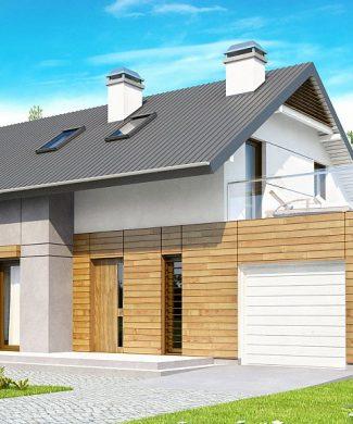 Фото проекта дома Z149 вид с улицы