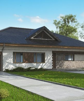 Фото проекта дома Z153 GL вид с улицы