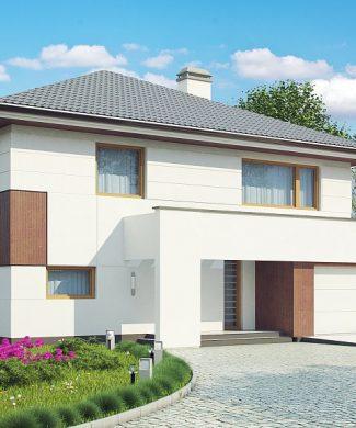 Фото проекта дома Z156 вид с улицы
