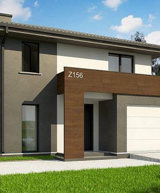 Фото проекта дома Z156 A minus вид с улицы