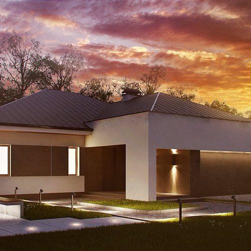 Фото проекта дома Z158 вид с улицы