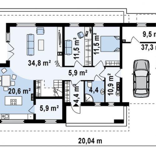 План первого этажа проекта Z161