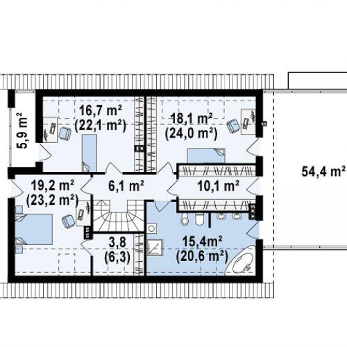 План второго этажа проекта Z161