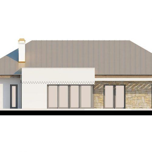 Фасад дома Z165 v2.0 3