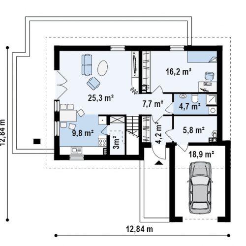 План первого этажа проекта Z168