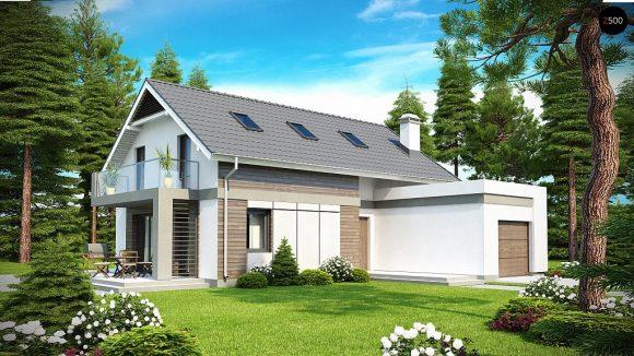Фото проекта дома Z168 вид с улицы