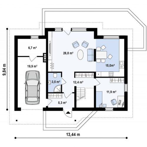 План первого этажа проекта Z170