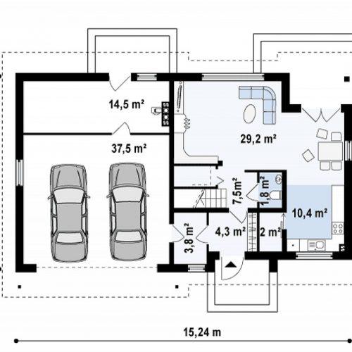 План первого этажа проекта Z172 GL2