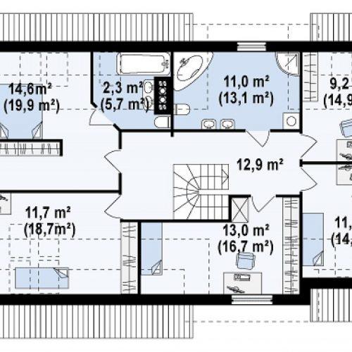 План второго этажа проекта Z172 GL2