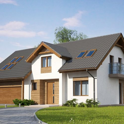 Фото проекта дома Z172 GL2 вид с улицы