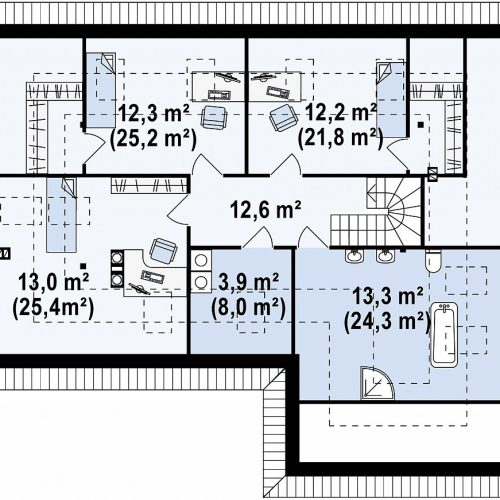 План второго этажа проекта Z173