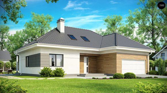 Фото проекта дома Z173 вид с улицы
