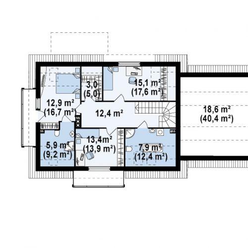План второго этажа проекта Z175