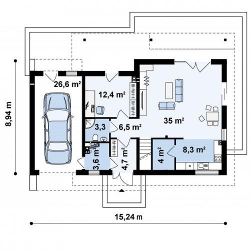 План первого этажа проекта Z179