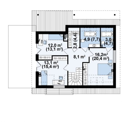 План второго этажа проекта Z179