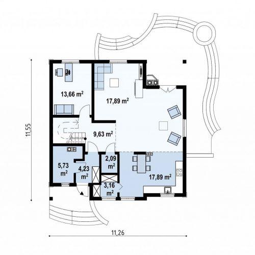 План первого этажа проекта Z18 dk