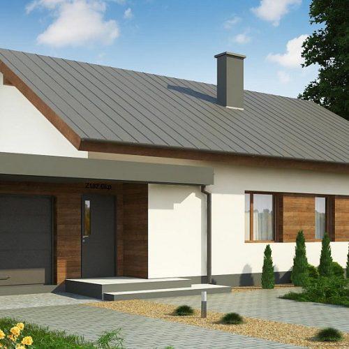 Фото проекта дома Z182 GL P HB вид с улицы