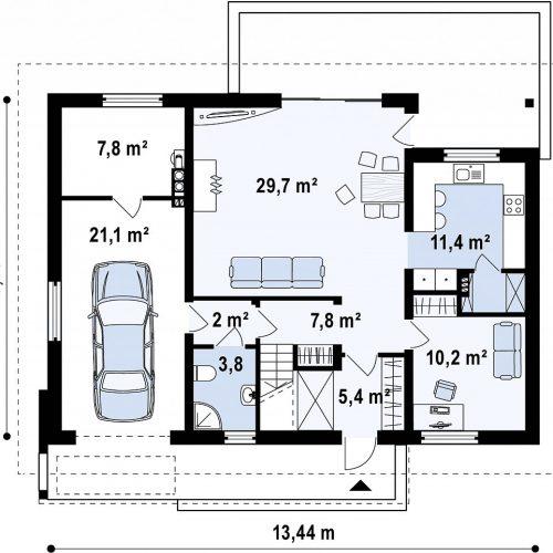 План первого этажа проекта Z188