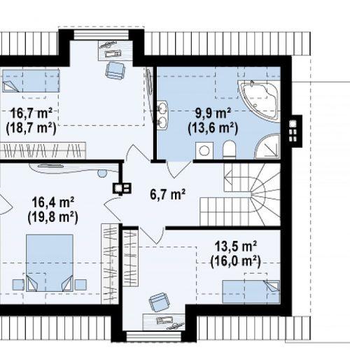 План второго этажа проекта Z189