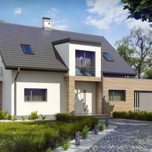 Фото проекта дома Z189 вид с улицы