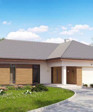 Фото проекта дома Z190 вид с улицы