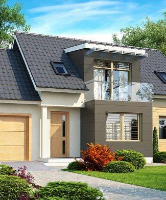 Фото проекта дома Z192 вид с улицы