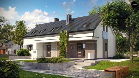 Фото проекта дома Z193 вид с улицы