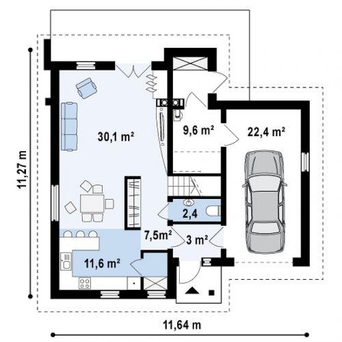 План первого этажа проекта Z197