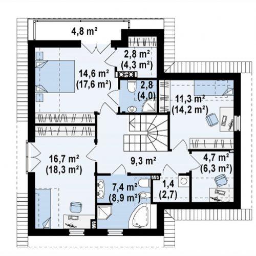 План второго этажа проекта Z197
