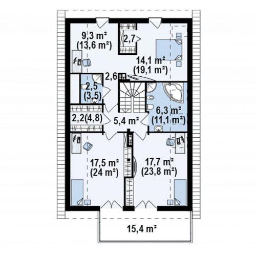 План второго этажа проекта Z198