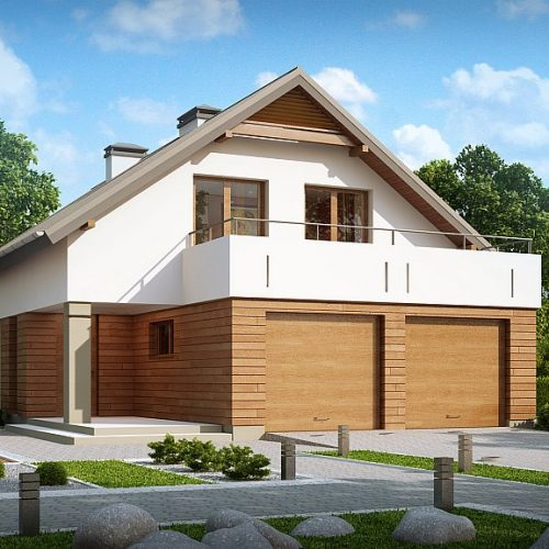 Фото проекта дома Z198 вид с улицы